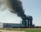 В Дорогобуже на производстве селитры загорелась гранбашня